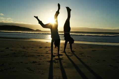 Lek på stranden