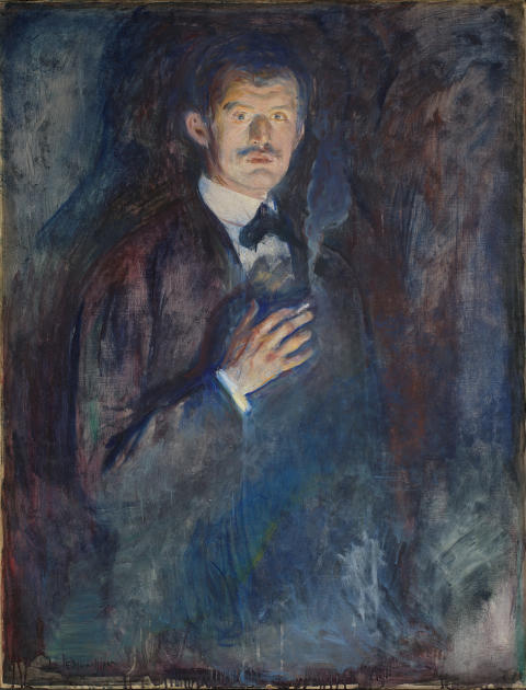 "Edvard Munch, ""Self-Portrait with Cigarette"", 1895."