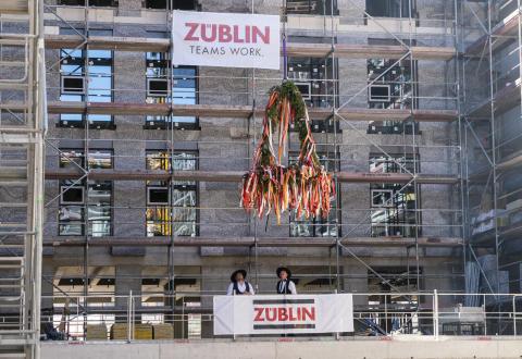 Europaviertel Frankfurt: Richtfest für DB Brick