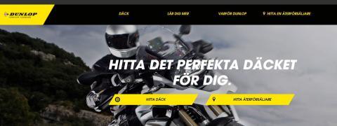 Skräddarsydda råd för svenska motorcyklister - Dunlopmotorcycle.se lanseras!