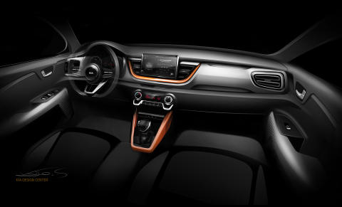 Kia Stonic Interior sketch