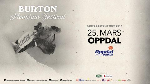 Burton Mountain Festival, Oppdal lørdag 25 mars!