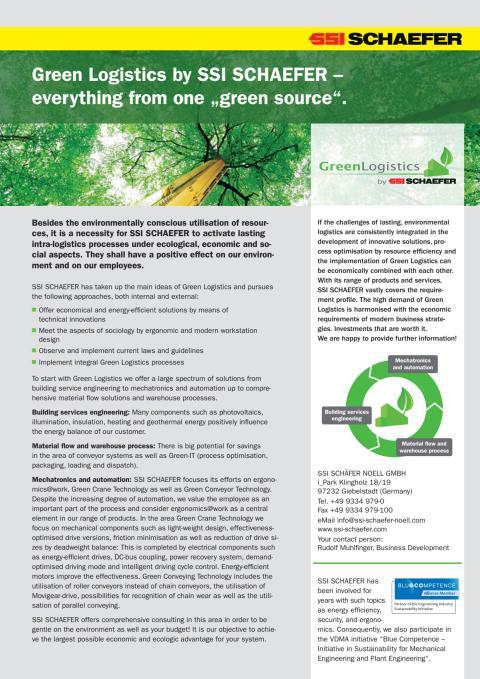 Grøn logistik fra SSI Schäfer