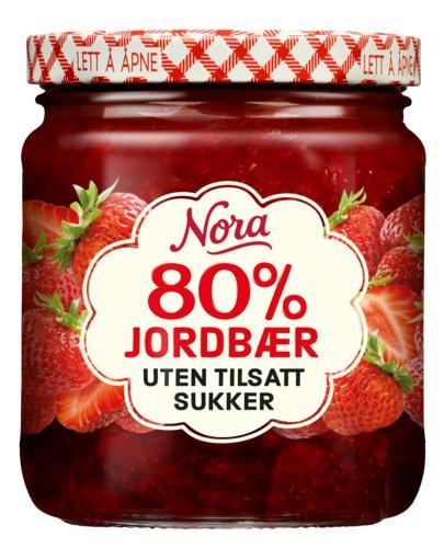 Nora uten tilsatt sukker jordbær