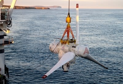 New tidal energy turbine installed to provide sustainable power to Scotland