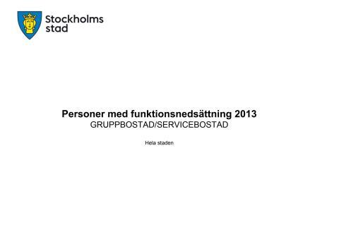 Brukarundersökning gruppbostad 2013