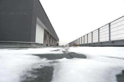 Dach des ElsterCube 2