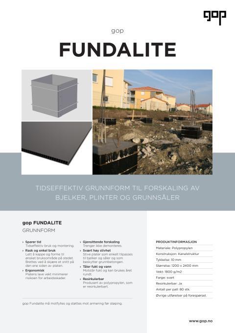 gop Fundalite Brosjyre