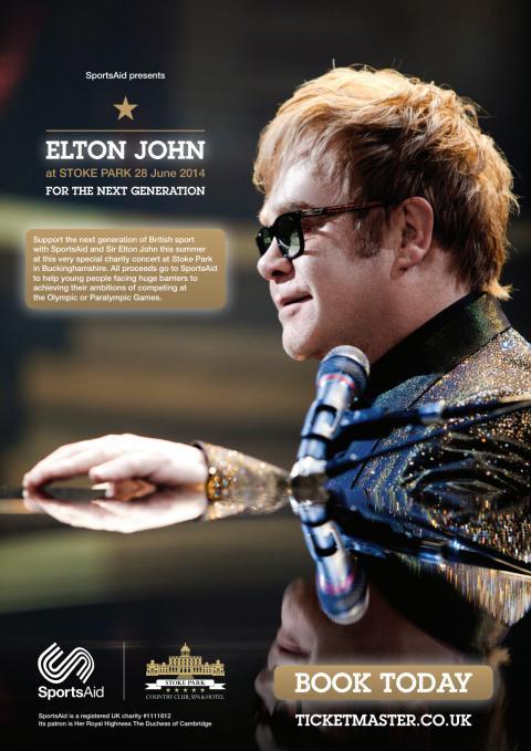 SportsAid Elton John Concert Poster