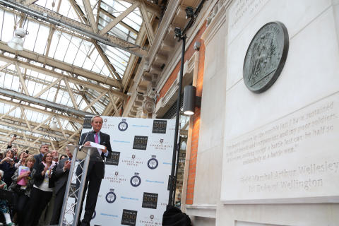 Duke of Wellington Unveils New War Memorial at Waterloo Station