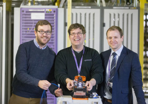Oliver Mundell MSP connects with high-speed fibre broadband