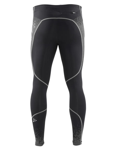 Delta Compression long tights för herr i färgen black/silver