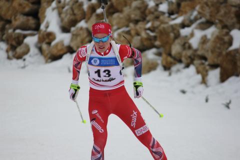 Kristina Skjevdal, jaktstart ungdom kvinner, junior-vm2016