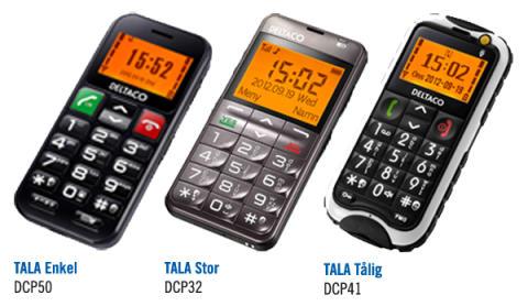 Enkla, tydliga och trygga telefoner från DELTACO