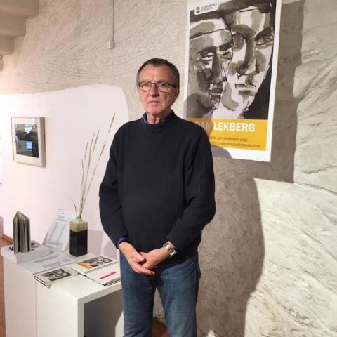 Dan Lekberg ställer ut på Lindesbergs Stadsbibliotek