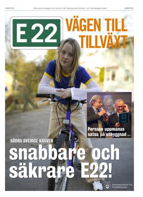 Tidningsbilaga om E22 i Dagens Industri