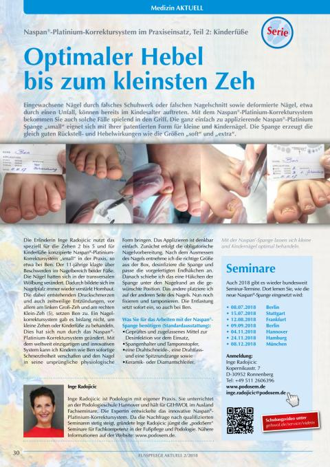Naspan®-Platinium-Korrektursystem im Praxiseinsatz, Teil 2: Kinderfüße