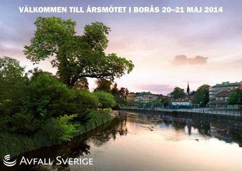 Avfall Sverige håller årsmöte i Borås 20–21 maj