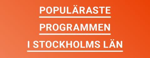 Populäraste gymnasieutbildningarna i Stockholms län