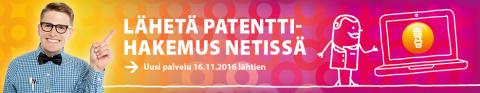 Patenttihakemuksen voi lähettää helposti netissä