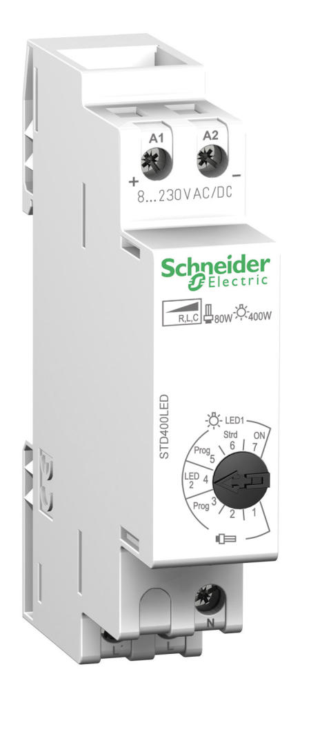 Kompakt LED-lysdæmper til DIN-skinne