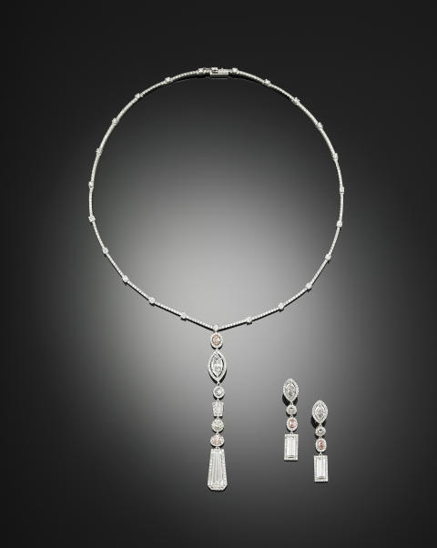 A rare diamond jewellery set