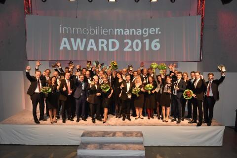Innovative Projekte, kreative Köpfe: Immobilienbranche kürt ihre Besten mit dem immobilienmanager Award 2016