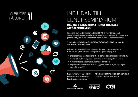 Lunchseminarium: Digital transformation & digitala affärsmodeller
