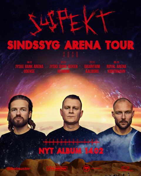 Suspekt annoncerer arena tour og nyt album