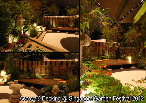 Singapore Garden Festival 2012 features Accoya® Eco Wood Decking