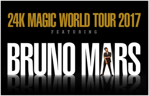 BRUNO MARS KOMMER TILL EUROPA MED 24K MAGIC WORLD TOUR!