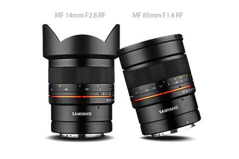 Samyang XP 14mm 2.8 RF & 85mm 1.4 RF