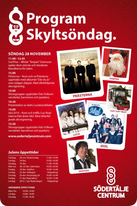 Idolfinalister och de sjungande Prästerna Södertälje!