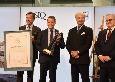 Ceremoni för Utmärkelsen Svensk Kvalitet 2015 på Volvo Car Torslanda i närvaro av H M Konungen