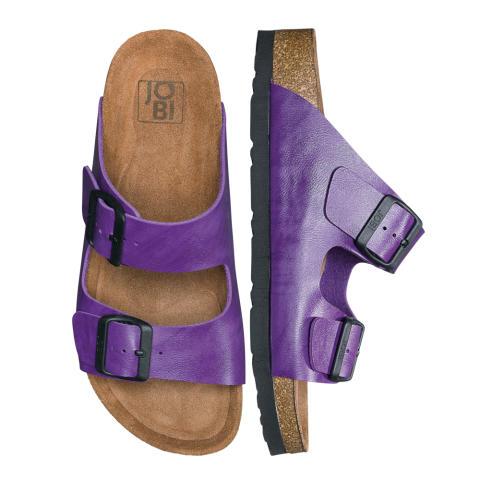 Mörklila ny färg på JOBIs sandal