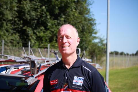 Landslagsleder Carl Erik Pedersen under EM landevei 2017