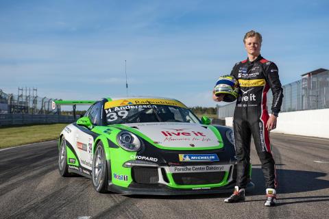 Hugo Andersson är en av tre förare från Driver Development Programme som får drömchansen – en startplats i Porsche Mobil 1 Supercup på Hockenheim.