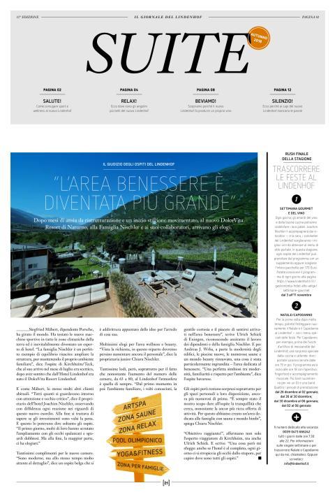 DolceVita Resort Lindenhof SUITE Autunno 2018