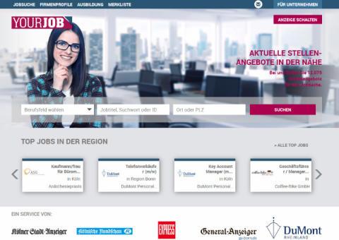 Neuer Online-Stellenmarkt für Nordrhein-Westfalen und das Rheinland
