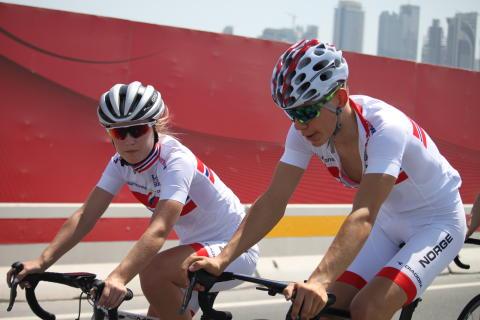 Gåskjenn og Holstad under sykkel-VM 2016