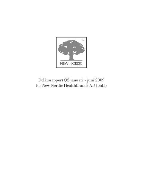 Delårsrapport Q2 2009
