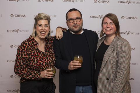 Chivas Venture Jury (v.l. Franziska von Hardenberg, Max Thinius, Julia Römer)