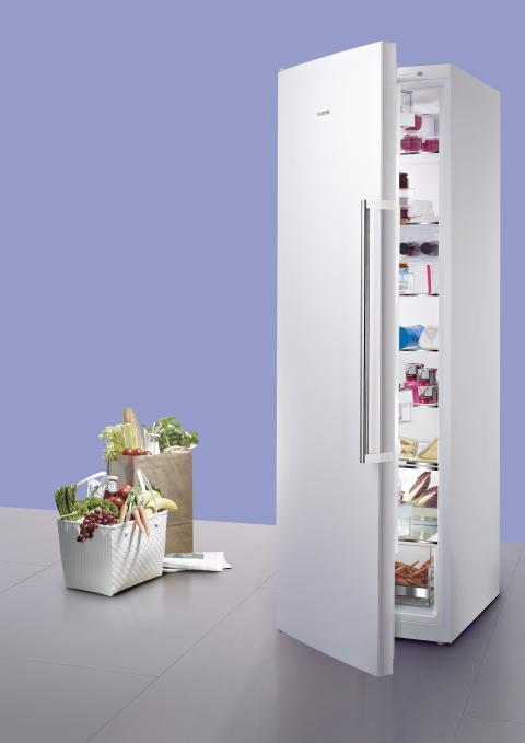 Siemens kylskåp håller maten fräsch dubbelt så länge