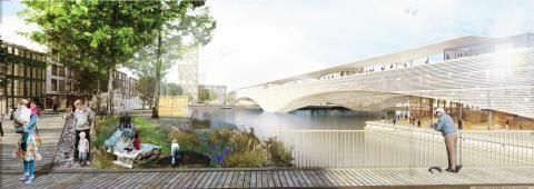 Bilder på vinnande förslag i arkitekttävling i Linköping