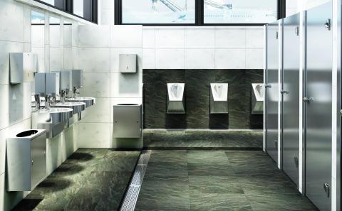 Offentlig toalett i rostfritt stål