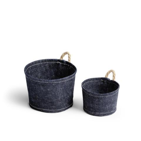 Textil krukhållare för vertikal odling