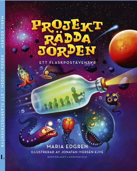 Ny illustrerad barnbok: Projekt Rädda Jorden – ett flaskpostäventyr