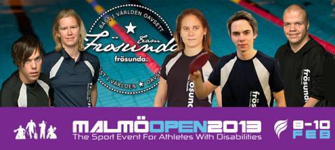 Team Frösunda på Malmö Open 2013