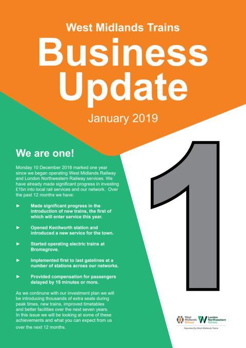 West Midlands Trains Business Update - Jan 2019