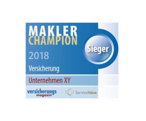 Makler-Champions 2018: Wer bietet den höchsten Servicewert für den Makler?